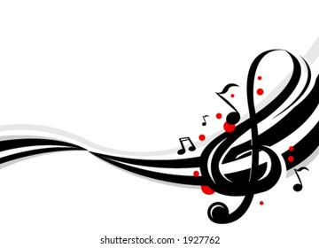 Stylish design of music notes