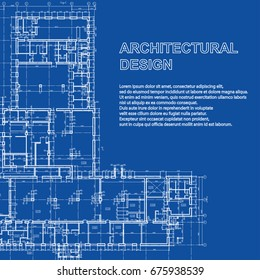 Building blueprint images stock photos vectors shutterstock stylish detailed architectural plan vector building blueprint modern abstract background malvernweather Choice Image
