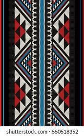 Stylish Diamonds Traditional Folk Sadu Arabian Hand Weaving Pattern