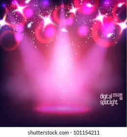 stylish digital spotlight vector design