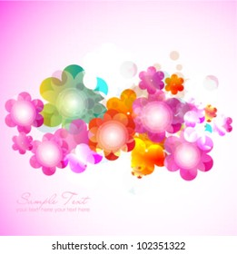 stylish floral background. vector