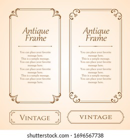Stylish frame design set, gorgeous borders, antique lines