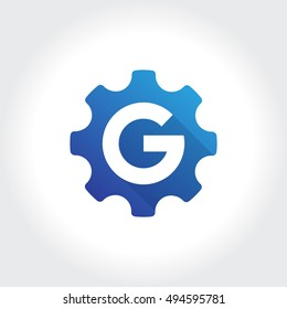Stylish Gear Symbol. Vector illustration
