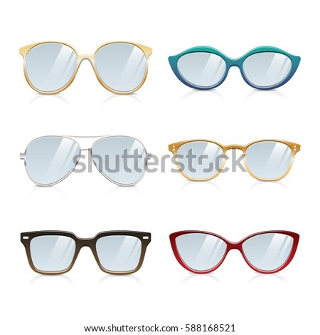 130c24b2ce31 Royalty-free stock vector images ID  588168521. Stylish Glasses Frames  Collection - Vector
