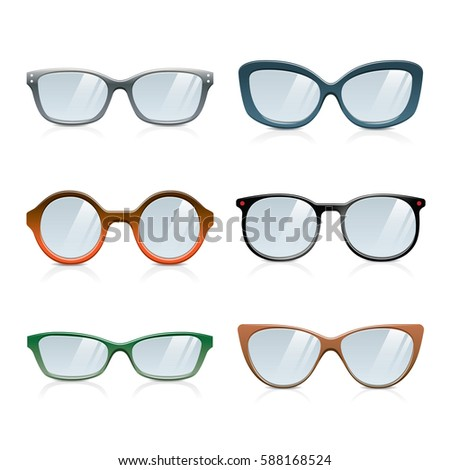 483e35896a5c Royalty-free stock vector images ID  588168524. Stylish Glasses Frames  Collection - Vector