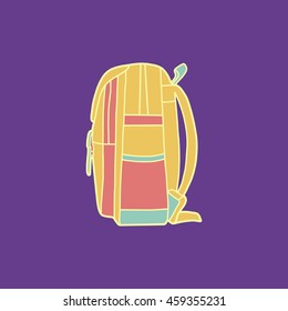 Stylish Graphic Backpack Lateral Side Stock Vector (Royalty Free ... 7b81cb88f66bb