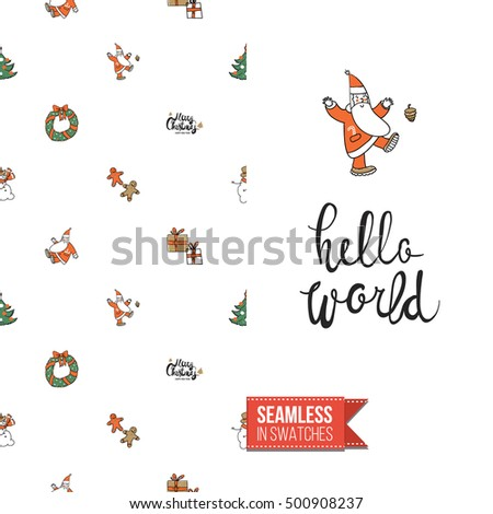 Stylish Greeting Card New Year Christmas Stock Vector (Royalty Free ...