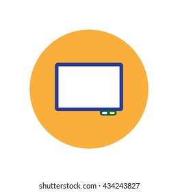 stylish icon in  circle Business interactive whiteboard