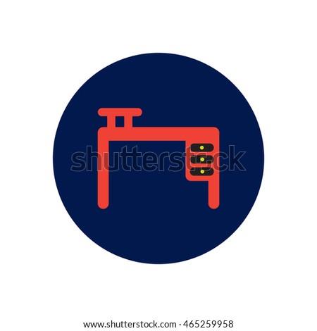 Stylish Icon Circle Fashion Office Desk Stock Vector Royalty Free