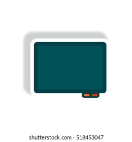 stylish icon in paper sticker style Business interactive whiteboard