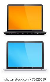 Stylish laptop on a white background