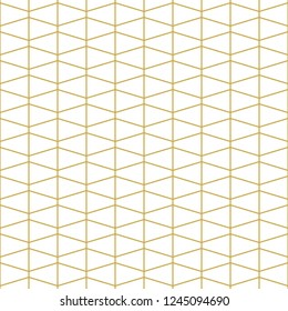 Stylish linear seamless vector pattern in gold