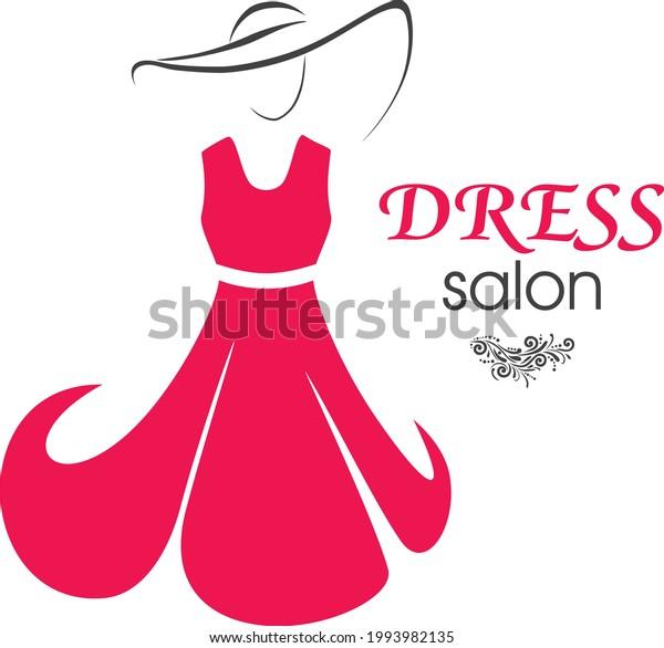 stylish-logo-design-dress-salon-600w-199