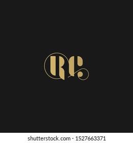 "Stylish logo. ""RC"" initials - premium. Logo Design Luxury linear creative monogram - Vector."