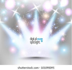 stylish magical spotlight effect vector design