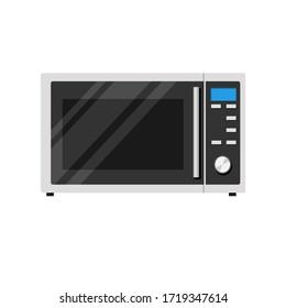 Stylish microwave. Flat style. Vector stock illustration.