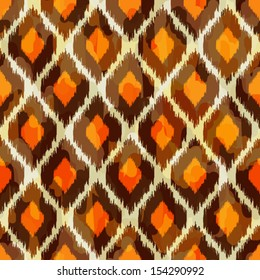Stylish modern ikat tribal seamless pattern, use it for web design or home decor