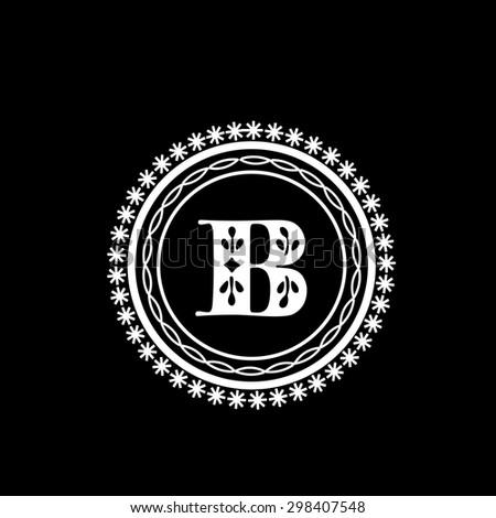 stylish monogram design english alphabet b stock vector royalty