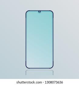 stylish notch smartphone