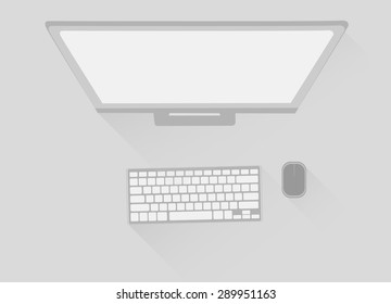 stylish office space for productive work. Stock vector