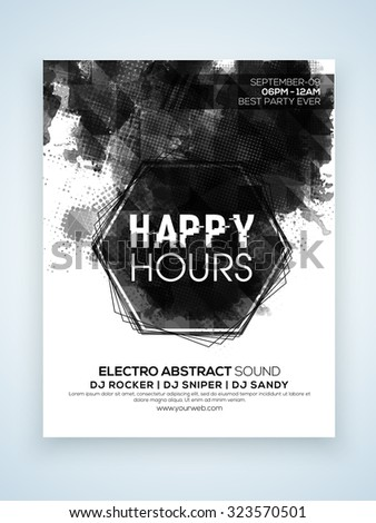 stylish one page flyer banner template stock vector royalty free
