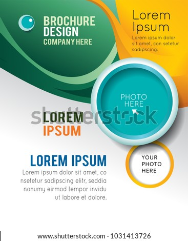 Stylish Presentation Business Poster Magazine Cover Stock Vector