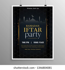stylish ramadan iftar party invitation template