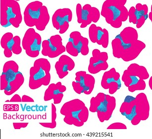 Stylish seamless pattern of leopard skin . Spotted animal skin . Bright background with spots .