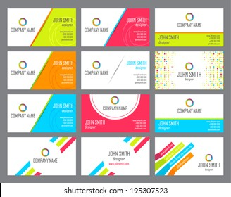 The stylish set of business cards. Vector illustration