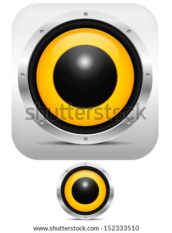 Stylish Speaker Application Icon Style Stock Vector (Royalty Free