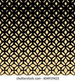 Stylish texture with flowers. Vector pattern. Repeating geometric tiles. Graphic modern pattern.Black and Black and gold texture.texture.