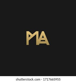 Stylish trendy MA initial based letter icon logo