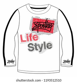 485b3a4fe29 Stylish trendy slogan tee t-shirt graphics print vector illustration design