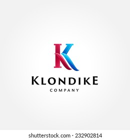 Stylish typographic logo template | Letter K Symbol | shiny icon template | corporate identity