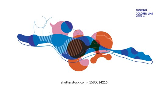 Stylish vector abstract drop shaped layout background