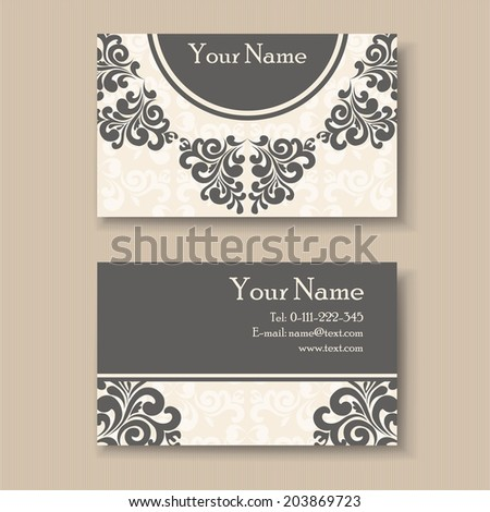 Stylish Vintage Business Card Template Stock Vector Royalty Free