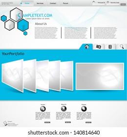 stylish website template - portfolio layout for designers and design studio
