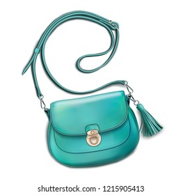 Stylish women's mint handbag