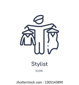 stylist icon from people skills outline collection. Thin line stylist icon isolated on white background.