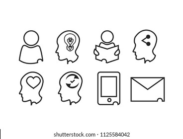 stylist vector icons for cv resume