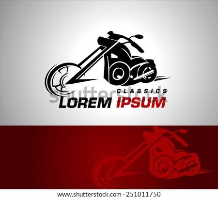 Stylization vector motorcycle motorbike