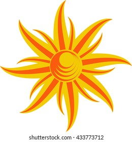 Stylized Abstract Sun Background