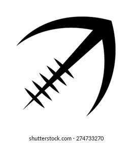 Stylized American Football logo vector icon