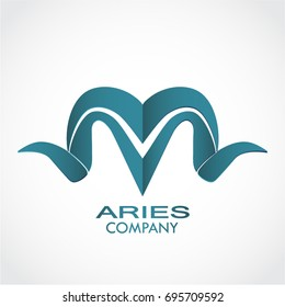 stylized aries horns logo