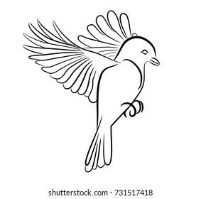 Stylized Art of a Bird Flying