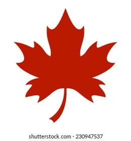 Stylized Autumn Red Maple Leaf Foliage logo icon