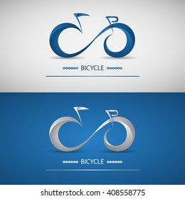 Stylized bike logo. Modern style. Vector illustration.