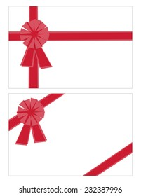 Stylized Bows and Ribbons in Two Different Layouts Isolated on White