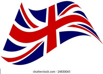 stylized British flag