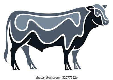 Stylized Bull - Angus Cattle